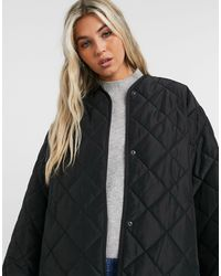 & Other Stories Recycled Polyester Quilted Jacket - Black