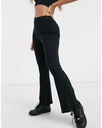 ASOS Rib Kick Flare legging - Black