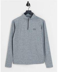Calvin Klein Newport Half Zip Top - Grey