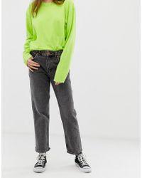 Cheap Monday - Revive Distressed Hem Straight Cut Jeans - Lyst
