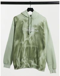 Daisy Street Oversized Coordinating Hoodie - Green