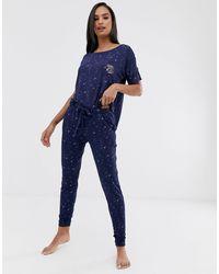 Hunkemöller Moon Child Pyjama Top - Blue