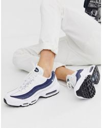 the best attitude c9e53 3381f Nike - Air Max 95 Lx Trainers In White - Lyst