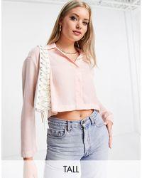 TOPSHOP Camisa corta color rubor - Blanco