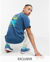 The North Face – Faces – es T-Shirt, exklusiv bei ASOS - Blau