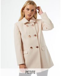 Miss Selfridge Светло-розовое Пальто Petite-розовый Цвет