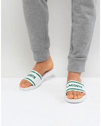 Lacoste - L.30 Slides In White - Lyst