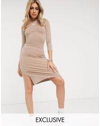 PUMA Коричневое Платье С Длинными Рукавами Classics – Эксклюзивно Для Asos-розовый Цвет - Естественный