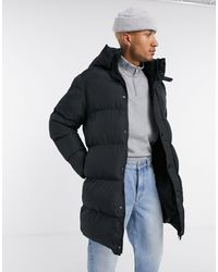 ASOS Sustainable Longline Puffer Jacket - Black