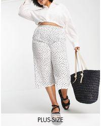 Simply Be Jupe-culotte à pois - Blanc
