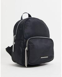 Pull&Bear Nylon Backpack - Black