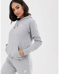 Nike Sportswear Essential Fleece-Hoodie für - Grau