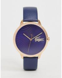 Lacoste Часы С Кожаным Ремешком Lexi - Пурпурный