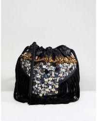 Park Lane - Festival Embroidered Real Leather Pouch Shoulder Bag - Lyst