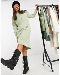 Monki Mindy - Robe pull mi-longue en coton biologique - Vert
