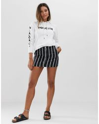 Volcom Fochickie Stripe Skirt - Black