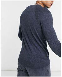 Hollister Icon Logo Crew Neck Knit Sweater - Blue