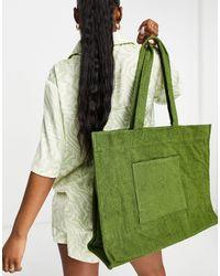 South Beach Махровая Сумка-тоут Цвета Хаки -зеленый Цвет