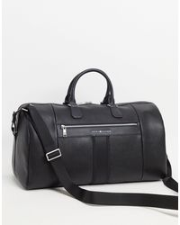 Tommy Hilfiger Faux Leather Duffle Bag - Black