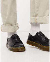 Dr. Martens Черные Ботинки С 6 Парами Люверсов -черный