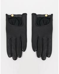 ASOS - Черные Кожаные Перчатки Для Сенсорных Экранов - Lyst