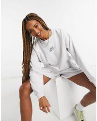 Nike - Светло-серый Свитшот Move To Zero-белый - Lyst