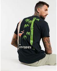 New Love Club T-shirt oversize à imprimé bambou - Noir