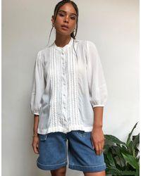 SELECTED Femme Prairie Blouse - White