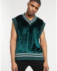 ASOS Camiseta extragrande sin mangas - Verde