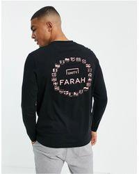 Farah X SoccerBible - Europa - T-shirt à manches longues - Noir - Bleu
