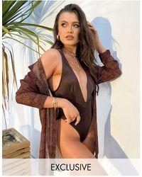 South Beach Эксклюзивная Пляжная Рубашка Со Звериным Принтом X Natalya Wright Exclusive-многоцветный