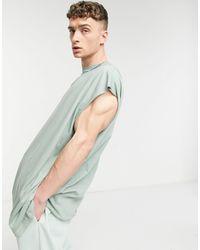 ASOS Extreme Oversized Longline Sleeveless T-shirt - Green