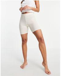 Lindex Короткие Леггинсы Для Дома Из Мягкой Ткани Молочного Цвета Felicity-белый