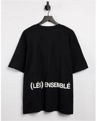 River Island Camiseta negra Les Ensemble - Negro