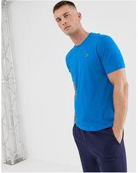 Lacoste Синяя Футболка С Маленьким Логотипом Sport-синий
