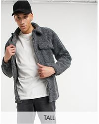 Another Influence Tall Borg Jacket - Grey