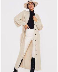 In The Style Бежевый Удлиненный Кардиган X Lorna Luxe-светло-коричневый - Естественный