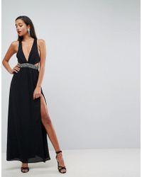 d413f6a6e3a4f ASOS - Asos Embellished Waist Strap Back Maxi Dress - Lyst