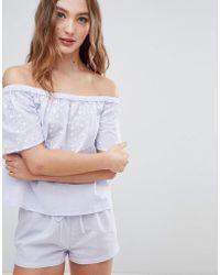Boux Avenue - Prairie Bardot And Short Pajama Set - Lyst 079cb8e47