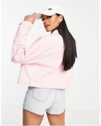 Missguided Boxy Shacket With Bellow Pocket - Pink