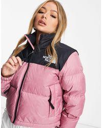 The North Face Розовая Укороченная Куртка Nuptse-розовый - Многоцветный