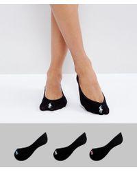 Polo Ralph Lauren - 3 Pack Liner Socks - Lyst