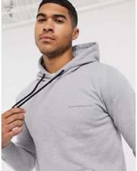 Good For Nothing Hoodie moulant avec logo - Gris