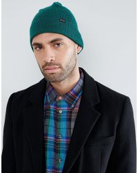 PS by Paul Smith - Wool Beanie In Green - Lyst