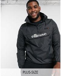 Ellesse Черная Куртка Без Застежки Со Светоотражающим Логотипом Plus Ion-черный