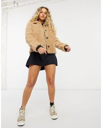 ONLY Teddy Jacket - Brown