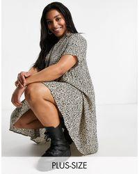AX Paris - Свободное Платье С V-образным Вырезом И Леопардовым Принтом -коричневый Цвет - Lyst