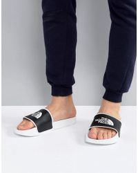 The North Face - Base Camp Slide Ii White & Black - Lyst