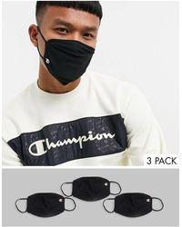 Champion - Набор Из 3 Черных Масок Для Лица -черный - Lyst
