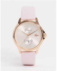Lacoste Розовые Часы С Силиконовым Ремешком -розовый